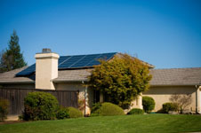 A solar panel saves on your electricity bill